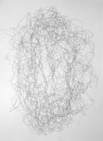Insellösung, aus einer 10teiligen Serie, 2006, Bleistiftzeichnung, ca. 56 x 76 cm