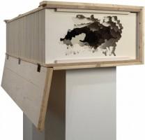 Strandkulissen, 2006, Holz, Acrylfabe, ca. 140 x 70 x 35 cm
